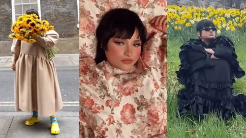 This Fashion Student Brings Her Voluminous Dresses to the Streets (and Your TikTok Feed)