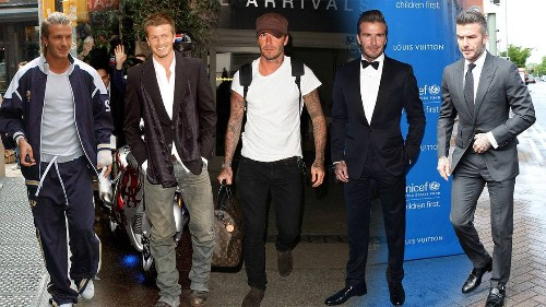 David Beckham's Style Evolution Is Something To Behold