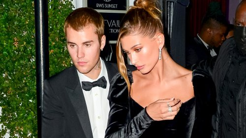 Justin and Hailey Bieber Give a Masterclass In Black Tie Attire