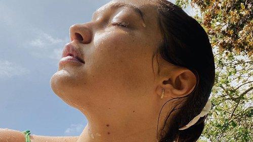 Sweet! Gigi Hadid & ihr Baby Khai tragen bereits Partnerlook am Pool