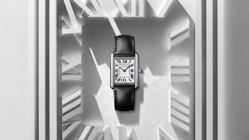Cartier dévoile une nouvelle version éthique et solaire de sa montre Tank iconique