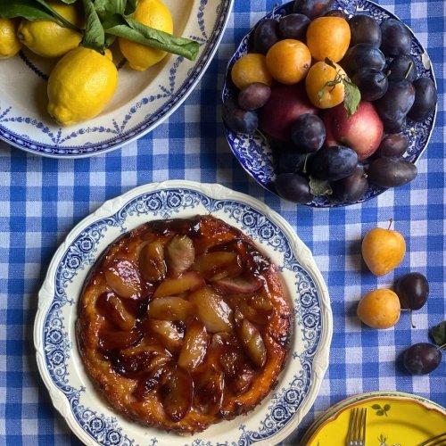 La recette de la tarte tatin aux pêches blanches