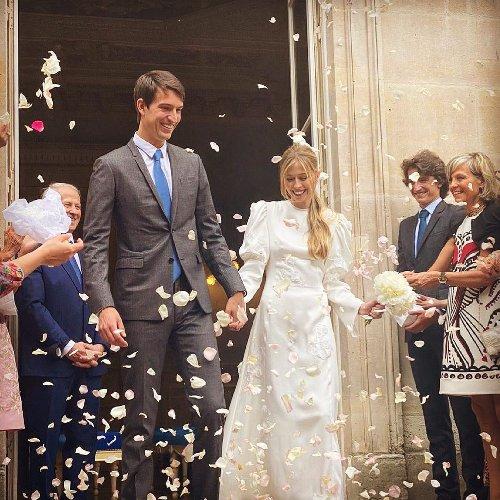 Celebrity Weddings 2021: Alexandre Arnault married the designer Géraldine Guyot in a J.W. Anderson wedding dress