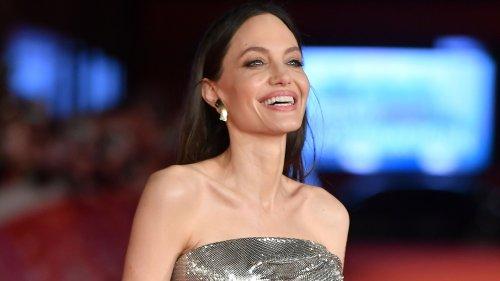 Angelina is an eternal Versace girl