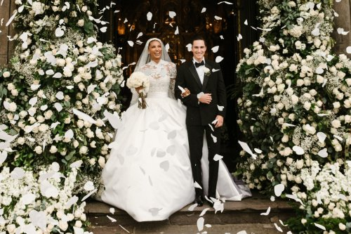 Jasmine Tookes wore Zuhair Murad to her enchanted secret garden wedding in Ecuador