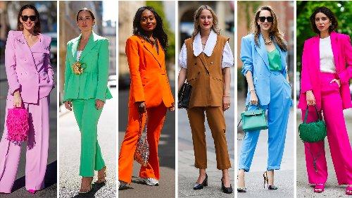Estate 2021: il completo giacca + pantaloni, elegante e coloratissimo