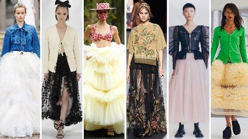 Gonne Primavera Estate 2021: i modelli in tulle dalle sfilate