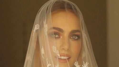 Miriam Leone, splendida nell'abito da sposa di pizzo firmato Dior per il matrimonio con Paolo Carullo