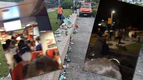 So eskalierte die Party am Samstag an der Pipeline