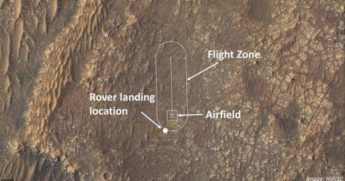 NASA reveals flight zone for historic helicopter flight on Mars
