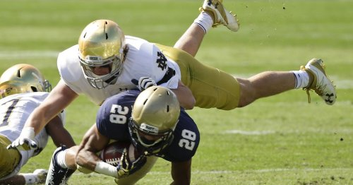 Notre Dame defense readies for Navy after 33-point blowout loss