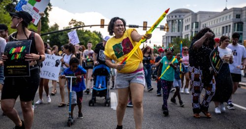 Photo of the day: Utahns celebrate Juneteenth with party at Washington Square