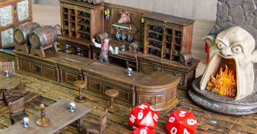 The Yawning Portal D&D terrain is an over-the-top modular toy playset, and also I love it