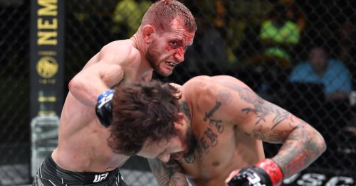 Graphic photo: Davey Grant 'still smiling' after multiple cuts from UFC FOTN war with Vera