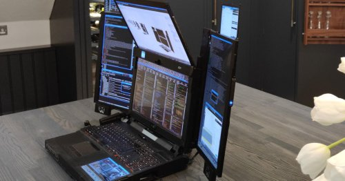 This laptop has seven times the average number of screens