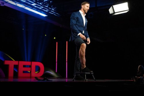 Former 49ers quarterback Alex Smith gives TED Talk in Monterey, CA.