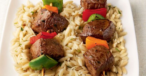 Menu planner: Tasty sirloin kebabs on a bed of orzo hit the spot