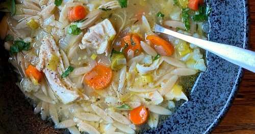 Elevate this weeknight chicken soup with the addition of orzo