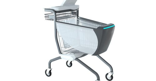 This smart shopping cart is a self-service checkout on wheels