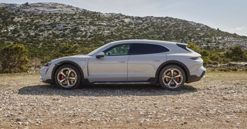 Porsche's Taycan Cross Turismo is a wagon-y follow-up to its first EV
