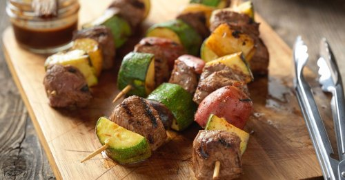 Menu planner: Try these mouth-watering top sirloin, zucchini and potato kebabs