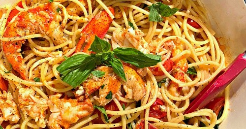 Lobster spaghetti is not just for special occasions