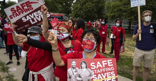 2,000 Cook County workers go on strike a day after nurses hit picket lines