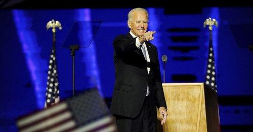 "Joe Biden in victory speech: ""Let this grim era of demonization in America begin to end"""