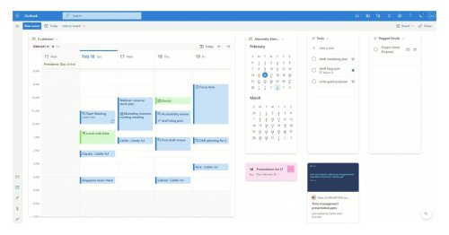Microsoft's new Outlook calendar board view looks a lot like Trello