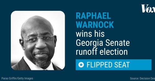 Democrat Raphael Warnock has won Georgia's Senate special election runoff — and made history