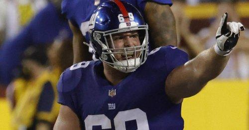 Billy Price film study: Giants' new center struggled in debut