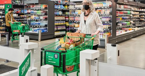 Amazon brings its cashierless tech to a full-size grocery store for the first time