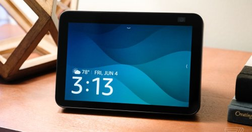 Amazon's new Echo Show 8 is a little faster and has a better camera