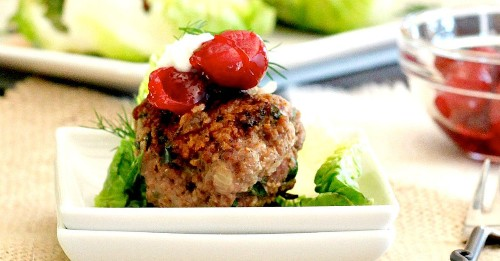 Spiced meatball lettuce wraps an ideal comfort food