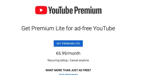 YouTube 'Premium Lite' subscription offers ad-free viewing for less