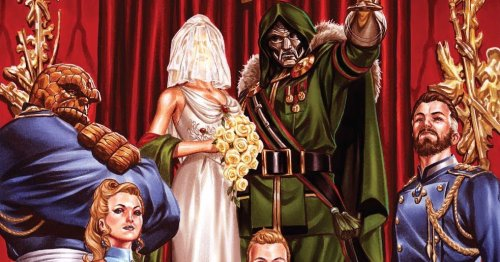 The Fantastic Four are ready for the wedding of Doom