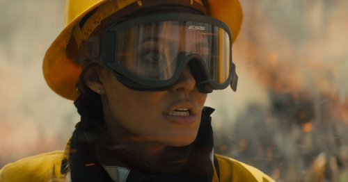 Angelina Jolie's cocky lady cowboy firefighter fetish film is here