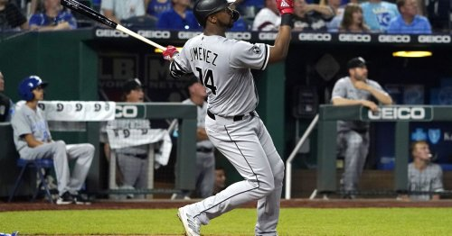 Eloy Jimenez powers White Sox to victory with first homer of season