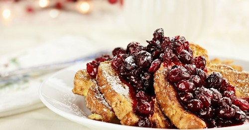 Relax and enjoy holiday morning French toast
