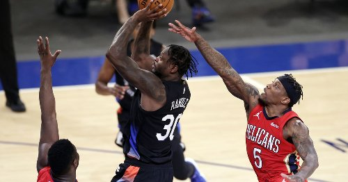 New York Wildcats win 6th straight behind 33 from Julius Randle and huge block by Nerlens Noel