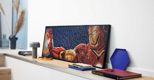 Lego has a new line of buildable pop art 'posters' featuring Iron Man, Darth Vader, and The Beatles