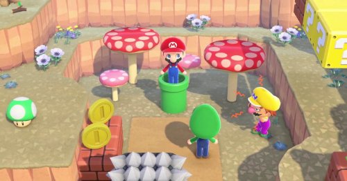 Animal Crossing: New Horizons Mario update includes a working warp pipe