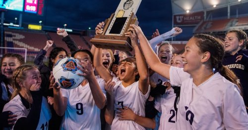High school girls soccer: Seven Castain scores four goals in Waterford's 2A championship game victory