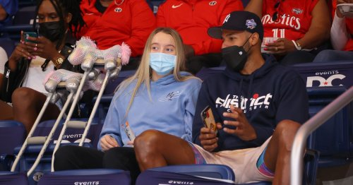 Jalen Suggs and Paige Bueckers attended the Mystics' home opener