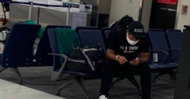 Hideki Matsuyama won the Masters and then draped the prized green jacket on an airport chair
