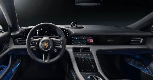 Porsche's Taycan is the first car with a native Apple Podcasts app