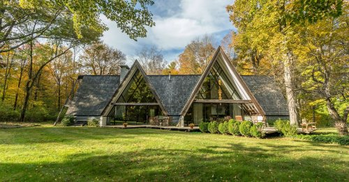 The ultimate A-frame house asks $835K