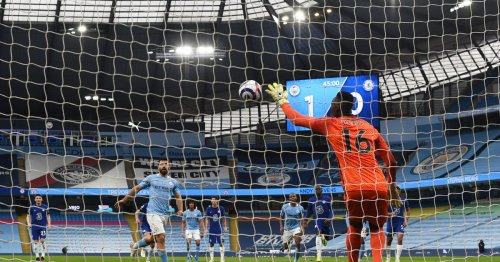 WATCH: Mendy one-hand defence against Agüero's Panenka attempt
