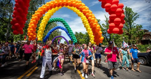 'Celebrating the beautiful spectrum of your souls': Hundreds march for pride in Salt Lake City