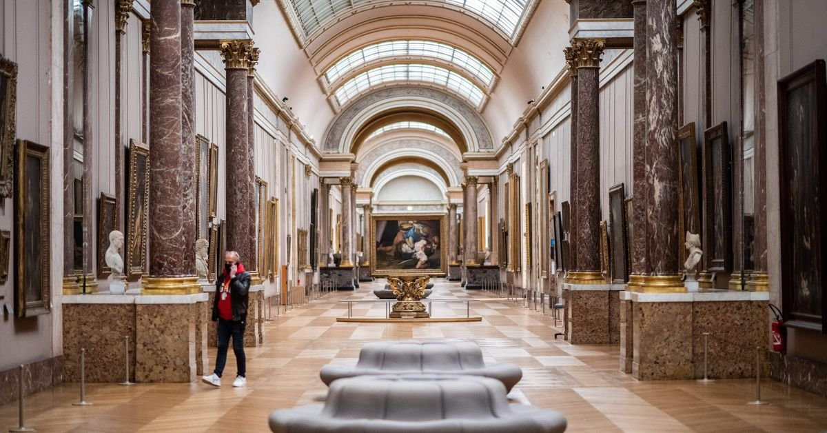 The Louvre's collections are online so I curated some good paintings for you